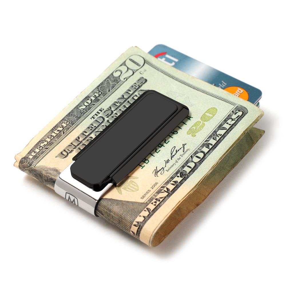 black solid slide money clip m clip com finally a money clip