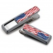 Natural With US Flag Money Clip