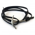 Black Leather with Antiqued Anchor Bracelet