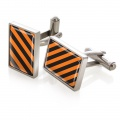 Black & Orange Inlay Cufflinks