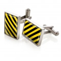 Black & Yellow Inlay Cufflinks