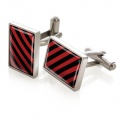 Crimson & Black Inlay Cufflinks