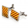 Crimson & Yellow Inlay Cufflinks