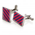 Dark Blue & Red Inlay Cufflinks