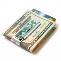 Mother of Pearl Green Abalone 2 Pocket Money Clip