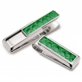 Rodeo Dark Green Alligator Money Clip