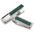 Dark Green Shark Skin Money Clip