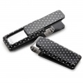 Black Solid Slide with Polka Dots Money Clip