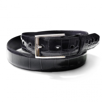 Black Genuine Alligator Belt