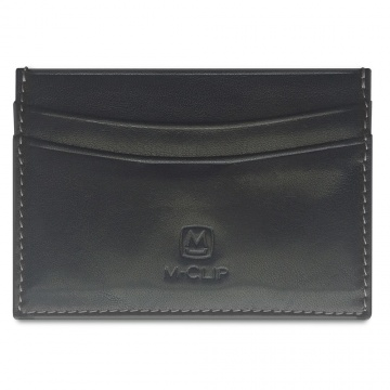 Black Horizontal Leather RFID Case