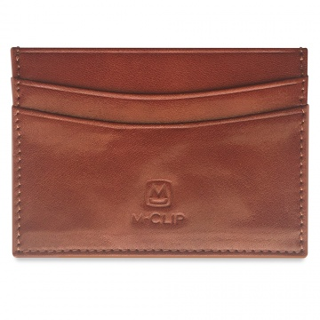 Brown Horizontal Leather RFID Case
