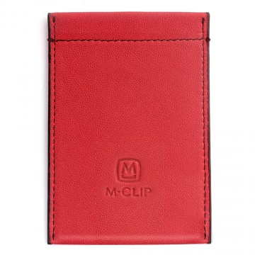 Red Leather RFID Case