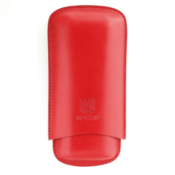 Red Calfskin Cigar Case