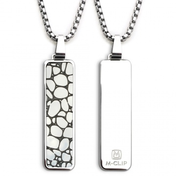 Polished Pendant with River Rock Inlay