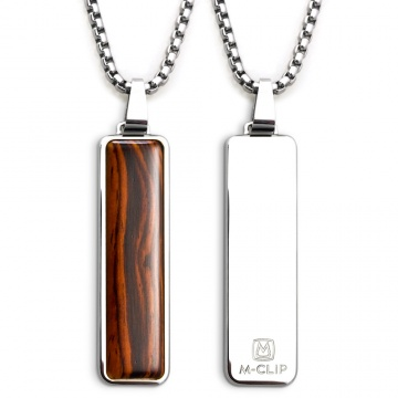 Polished Pendant with Cocobolo Wood Inlay