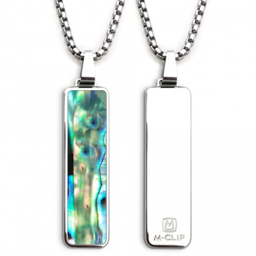 Polished Pendant with Green Abalone Inlay