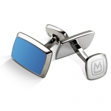 Blue PVD Inlay Cufflinks