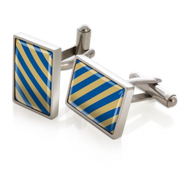 Dark Blue & Gold Inlay Cufflinks