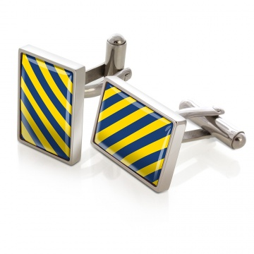 Dark Blue & Yellow Inlay Cufflinks