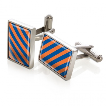 Orange & Blue Inlay Cufflinks