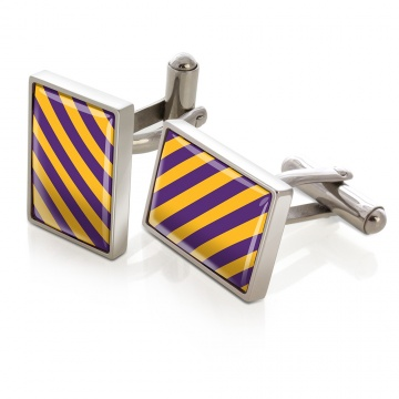 Purple & Gold Inlay Cufflinks