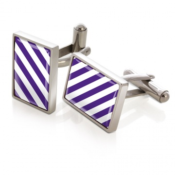 Purple & White Inlay Cufflinks