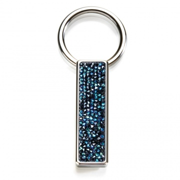 Blue Swarovski Crystal Key Ring