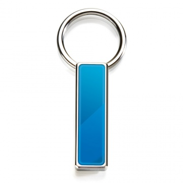 Blue PVD Inlay Key Ring