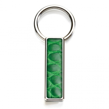 Dark Green Alligator Key Ring