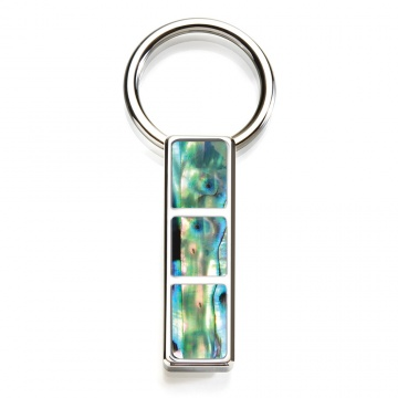 Green Abalone 3 Pocket Key Ring