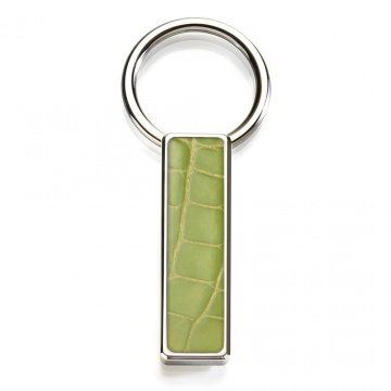 Light Green Alligator Key Ring