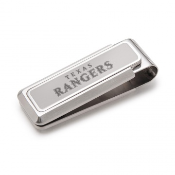 Texas Rangers Stainless Money Clip