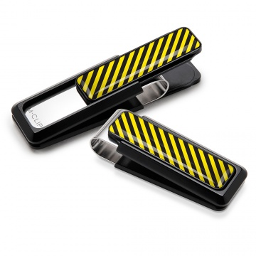 Black & Yellow Inlay Money Clip