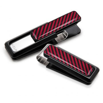Crimson & Black Inlay Money Clip