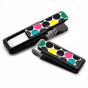 Black with Polka Dot Inlay Money Clip