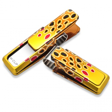Painted Brown Trout Money Clip