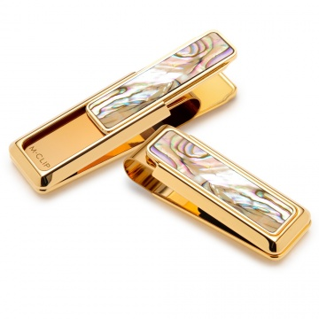 New Yorker Gold Yellow Abalone Money Clip