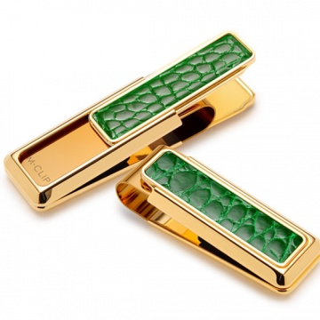 Limited Edition Gold with Green Alligator Money Clip
