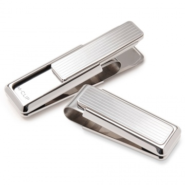 Monterey Rhodium Channeled Slide Money Clip