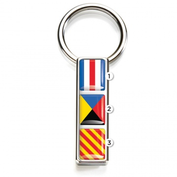 Mariner Nautical Flag Key Ring
