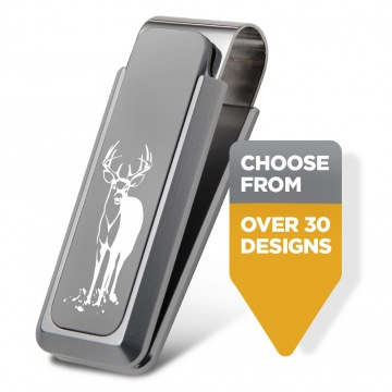 Sportsman Natural Aluminum Money Clip