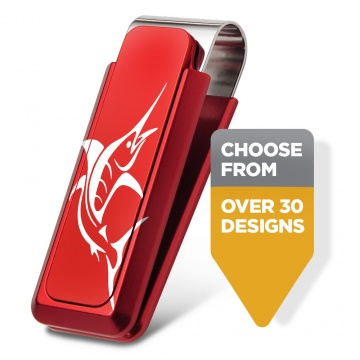 Sportsman Red Aluminum Money Clip