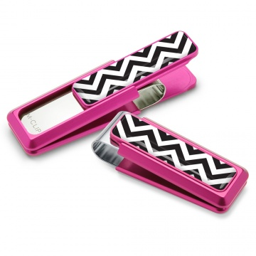 Pink with Chevron Inlay Money Clip