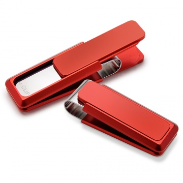 Red Solid Slide Money Clip