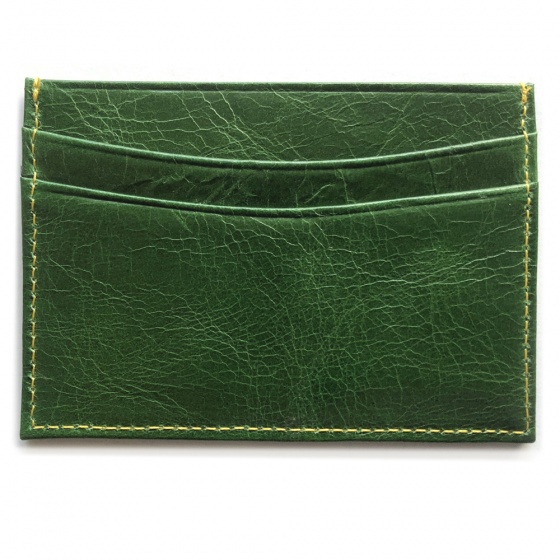 Green Horizontal Leather RFID Case