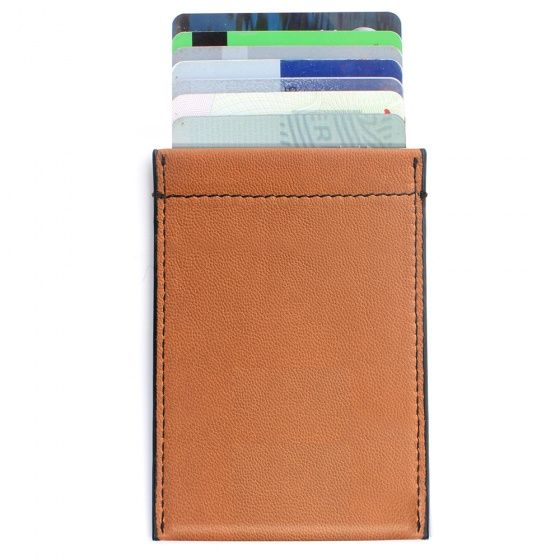 Tan Leather RFID Case