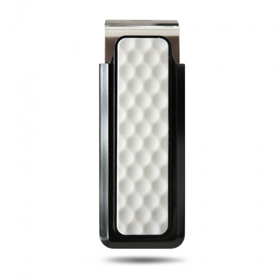 Black Anodized White Golf Ball Money Clip